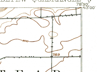 Reduced fragment of topographic map en--usgs--063k--053366--(1905)--N043-00_W078-45--N042-45_W078-30; towns and cities Cheektowaga, Lancaster, Depew, Williamsville, East Aurora