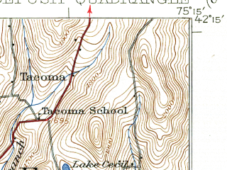 Reduced fragment of topographic map en--usgs--063k--053367--(1926)--N042-15_W075-30--N042-00_W075-15; towns and cities Deposit