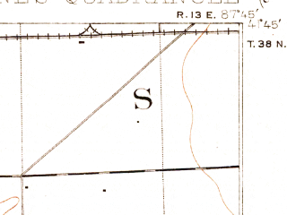 Reduced fragment of topographic map en--usgs--063k--053375--(1901)--N041-45_W088-00--N041-30_W087-45; towns and cities Oak Lawn, Orland Park, Tinley Park, Burbank, Goodings Grove
