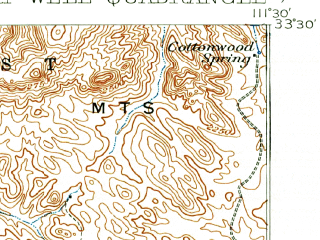 Reduced fragment of topographic map en--usgs--063k--053380--(1904)--N033-30_W111-45--N033-15_W111-30; towns and cities Mesa, Apache Junction