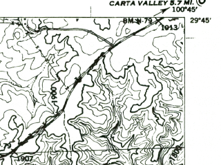 Reduced fragment of topographic map en--usgs--063k--053389--(1944)--N029-45_W101-00--N029-30_W100-45