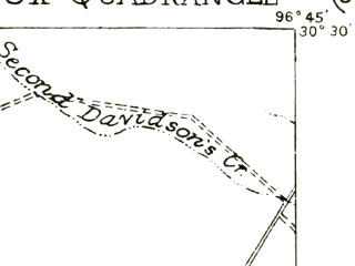 Reduced fragment of topographic map en--usgs--063k--053445--(1919)--N030-30_W097-00--N030-15_W096-45