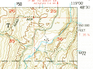 Reduced fragment of topographic map en--usgs--063k--053454--(1952)--N048-30_W119-15--N048-15_W119-00
