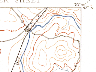 Reduced fragment of topographic map en--usgs--063k--053530--(1893)--N043-15_W071-00--N043-00_W070-45 in area of Bellamy Reservoir; towns and cities Portsmouth, Dover, Durham, Newmarket, South Eliot