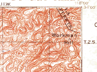 Reduced fragment of topographic map en--usgs--063k--053532--(1899)--N034-00_W118-15--N033-45_W118-00; towns and cities Long Beach, Florence-graham, Norwalk, Bellflower, Paramount