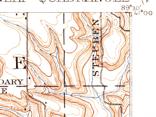 Reduced fragment of topographic map en--usgs--063k--053603--(1898)--N041-00_W089-45--N040-45_W089-30; towns and cities Peoria Heights, Bay View Gardens, Dunlap, Rome