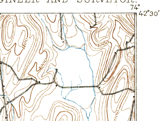 Reduced fragment of topographic map en--usgs--063k--053620--(1893)--N042-30_W074-15--N042-15_W074-00; towns and cities Cairo
