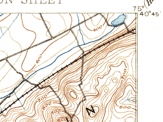 Reduced fragment of topographic map en--usgs--063k--053703--(1891)--N040-45_W075-15--N040-30_W075-00 in area of Delaware; towns and cities Easton, Phillipsburg, Wilson, Alpha, Bloomsbury