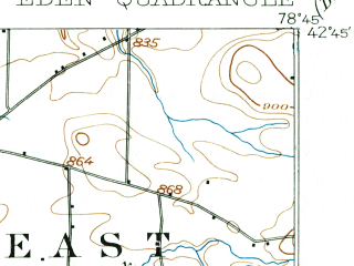 Reduced fragment of topographic map en--usgs--063k--053724--(1905)--N042-45_W079-00--N042-30_W078-45; towns and cities Hamburg, Eden, North Boston, North Collins