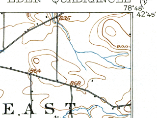 Reduced fragment of topographic map en--usgs--063k--053724--(1944)--N042-45_W079-00--N042-30_W078-45; towns and cities Hamburg, Eden, North Boston, North Collins