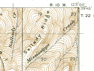 Reduced fragment of topographic map en--usgs--063k--053727--(1929)--N039-45_W123-15--N039-30_W123-00