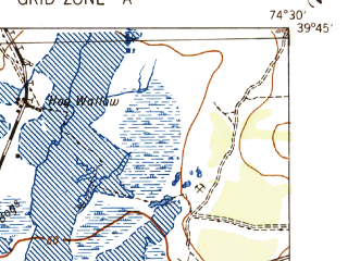 Reduced fragment of topographic map en--usgs--063k--053761--(1942)--N039-45_W074-45--N039-30_W074-30; towns and cities Egg Harbor City, Magnolia-elwood