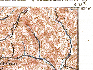 Reduced fragment of topographic map en--usgs--063k--053799--(1906)--N039-15_W081-30--N039-00_W081-15; towns and cities Elizabeth