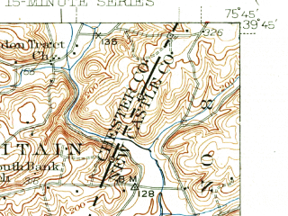 Reduced fragment of topographic map en--usgs--063k--053824--(1942)--N039-45_W076-00--N039-30_W075-45; towns and cities Newark, Elkton, North East, Charlestown, Chesapeake City