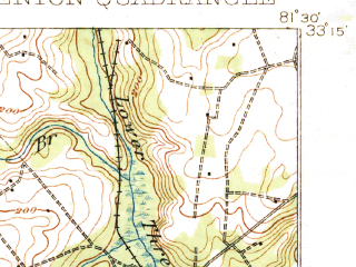 Reduced fragment of topographic map en--usgs--063k--053829--(1921)--N033-15_W081-45--N033-00_W081-30; towns and cities Girard