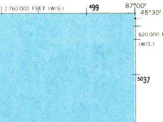 Reduced fragment of topographic map en--usgs--063k--053841--(1960)--N045-30_W087-15--N045-15_W087-00