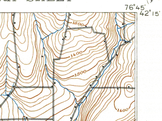 Reduced fragment of topographic map en--usgs--063k--053853--(1895)--N042-15_W077-00--N042-00_W076-45; towns and cities Elmira, Horseheads, Southport, West Elmira, Big Flats