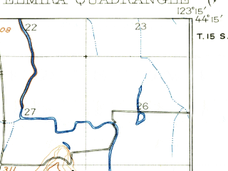 Reduced fragment of topographic map en--usgs--063k--053854--(1922)--N044-15_W123-30--N044-00_W123-15; towns and cities Veneta