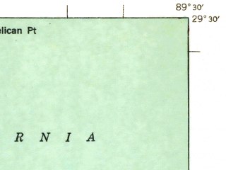 Reduced fragment of topographic map en--usgs--063k--053900--(1941)--N029-30_W089-45--N029-15_W089-30 in area of Adams Bay; towns and cities Empire, Port Sulphur