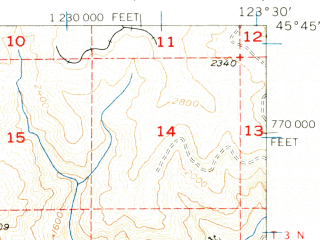 Reduced fragment of topographic map en--usgs--063k--053924--(1955)--N045-45_W123-45--N045-30_W123-30