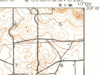 Reduced fragment of topographic map en--usgs--063k--053951--(1901)--N033-15_W117-15--N033-00_W117-00 in area of Lake Hodges; towns and cities Escondido, Vista, San Marcos, Hidden Meadows, Lake San Marcos
