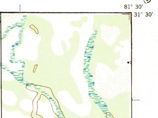 Reduced fragment of topographic map en--usgs--063k--053991--(1944)--N031-30_W081-45--N031-15_W081-30
