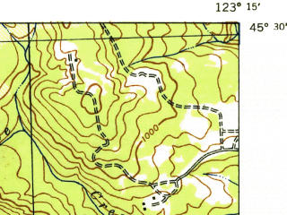 Reduced fragment of topographic map en--usgs--063k--054028--(1942)--N045-30_W123-30--N045-15_W123-15