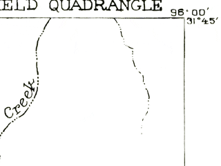 Reduced fragment of topographic map en--usgs--063k--054032--(1919)--N031-45_W096-15--N031-30_W096-00; towns and cities Fairfield