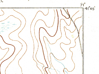 Reduced fragment of topographic map en--usgs--063k--054061--(1888)--N041-45_W071-15--N041-30_W071-00 in area of North Watuppa Pond; towns and cities Fall River, Somerset, Tiverton, North Westport, Ocean Grove