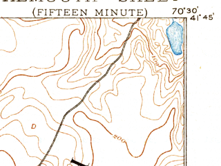 Reduced fragment of topographic map en--usgs--063k--054068--(1893)--N041-45_W070-45--N041-30_W070-30; towns and cities East Falmouth, Monument Beach, North Falmouth, Onset
