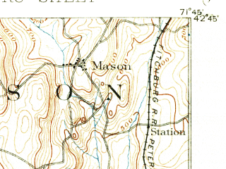 Reduced fragment of topographic map en--usgs--063k--054151--(1893)--N042-45_W072-00--N042-30_W071-45; towns and cities Fitchburg, Leominster, Gardner, South Ashburnham