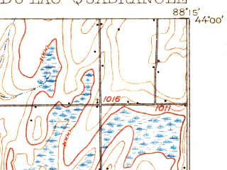 Reduced fragment of topographic map en--usgs--063k--054223--(1910)--N044-00_W088-30--N043-45_W088-15; towns and cities Fond Du Lac, North Fond Du Lac