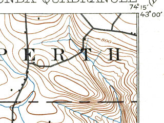 Reduced fragment of topographic map en--usgs--063k--054224--(1902)--N043-00_W074-30--N042-45_W074-15; towns and cities Esperance, Fonda, Fultonville