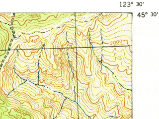 Reduced fragment of topographic map en--usgs--063k--054238--(1942)--N045-45_W123-15--N045-30_W123-00; towns and cities Forest Grove, Cornelius, Banks, North Plains