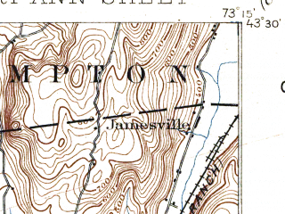 Reduced fragment of topographic map en--usgs--063k--054248--(1898)--N043-30_W073-30--N043-15_W073-15; towns and cities Fort Ann, Granville
