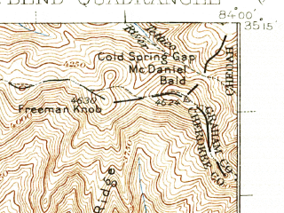 Reduced fragment of topographic map en--usgs--063k--054345--(1938)--N035-15_W084-15--N035-00_W084-00; towns and cities Murphy
