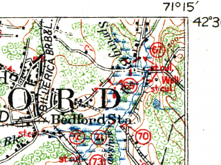 Reduced fragment of topographic map en--usgs--063k--054354--(1918)--N042-30_W071-30--N042-15_W071-15; towns and cities Framingham, Wellesley, Maynard, West Concord, Cochituate
