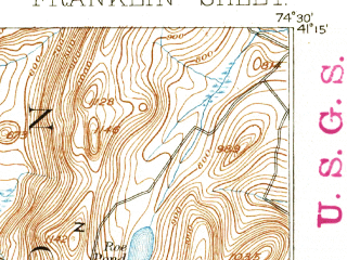 Reduced fragment of topographic map en--usgs--063k--054363--(1894)--N041-15_W074-45--N041-00_W074-30 in area of Lake Mohawk; towns and cities Lake Mohawk, Branchville, Ogdensburg, Franklin