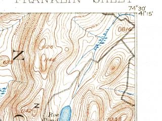 Reduced fragment of topographic map en--usgs--063k--054363--(1897)--N041-15_W074-45--N041-00_W074-30 in area of Lake Mohawk; towns and cities Lake Mohawk, Sussex, Branchville, Ogdensburg