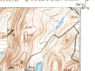 Reduced fragment of topographic map en--usgs--063k--054363--(1903)--N041-15_W074-45--N041-00_W074-30 in area of Lake Mohawk; towns and cities Lake Mohawk, Sussex, Branchville, Ogdensburg