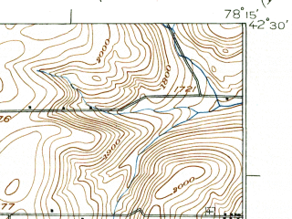 Reduced fragment of topographic map en--usgs--063k--054369--(1924)--N042-30_W078-30--N042-15_W078-15; towns and cities Franklinville, Lime Lake-machias, Delevan