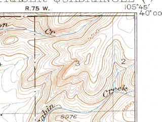 Reduced fragment of topographic map en--usgs--063k--054372--(1926)--N040-00_W106-00--N039-45_W105-45; towns and cities Fraser, Winter Park
