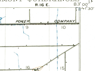 Reduced fragment of topographic map en--usgs--063k--054401--(1901)--N041-30_W083-15--N041-15_W083-00; towns and cities Fremont, Ballville, Green Springs, Lindsey