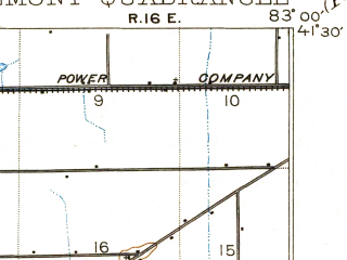 Reduced fragment of topographic map en--usgs--063k--054401--(1903)--N041-30_W083-15--N041-15_W083-00; towns and cities Fremont, Ballville, Green Springs, Lindsey