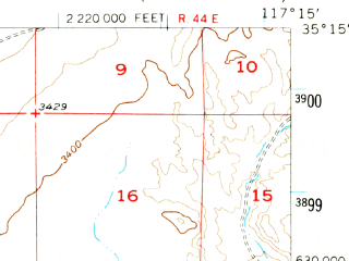 Reduced fragment of topographic map en--usgs--063k--054403--(1956)--N035-15_W117-30--N035-00_W117-15