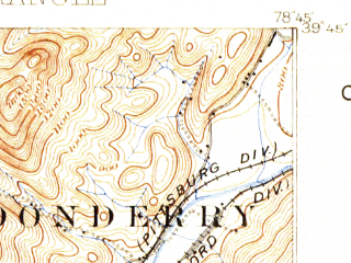 Reduced fragment of topographic map en--usgs--063k--054420--(1898)--N039-45_W079-00--N039-30_W078-45; towns and cities Cumberland, Frostburg, Lonaconing, Midland, Ridgeley