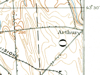 Reduced fragment of topographic map en--usgs--063k--054430--(1900)--N043-30_W076-30--N043-15_W076-15 in area of Lake Neatahwanta; towns and cities Fulton, Minetto