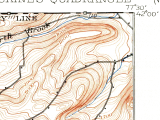 Reduced fragment of topographic map en--usgs--063k--054441--(1899)--N042-00_W077-45--N041-45_W077-30; towns and cities Westfield