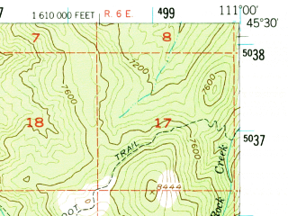 Reduced fragment of topographic map en--usgs--063k--054504--(1955)--N045-30_W111-15--N045-15_W111-00