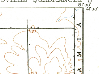 Reduced fragment of topographic map en--usgs--063k--054508--(1907)--N041-30_W081-15--N041-15_W081-00; towns and cities Burton, Garrettsville, Hiram